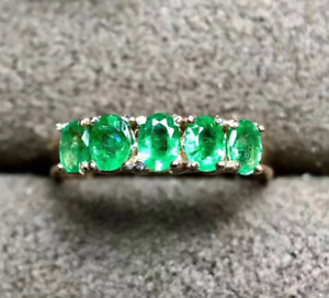 14k-Yellow-gold-Over-Emerald-Ring-3X4-Natural-Emerald-Gemstones-Simple-Ring