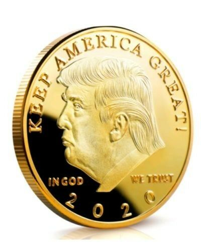 HEADS YOU WIN Gold Coin TAILS YOU WIN Donald J Trump 2020 Keep America Great