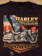 Harley Davidson VIntage 1985 T-Shirt 3D Emblem Perry HD Michigan (L)