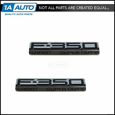 OEM Nameplate Emblem Chrome /& Black Pair for Ford F-350 Lariat Super Duty Pickup