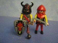 2 rote Drachenritter Ritter mit Waffen zu 4865 3269 Ritterburg Playmobil 9713