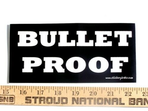 Bullet Proof Offroad 4x4 Biker Funny Bumper Sticker