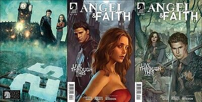 3 reg BUFFY THE VAMPIRE SLAYER #1 season 9 WHEDON 1st print set 1:10 variant