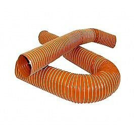 """4/"""" Silicone 2 Ply Black 1 Metre Air Ducting Flexible Duct Cold /& Hot 102mm"""