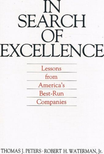 1 of 1 - In Search Of Excellence by Peters Thomas J Waterman Robert H - Book - Soft Cover