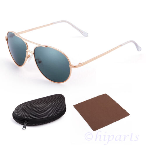 Vintage Aviator Sunglasses For Boys Girls Kids Child Toddler Baby Eyewear Case