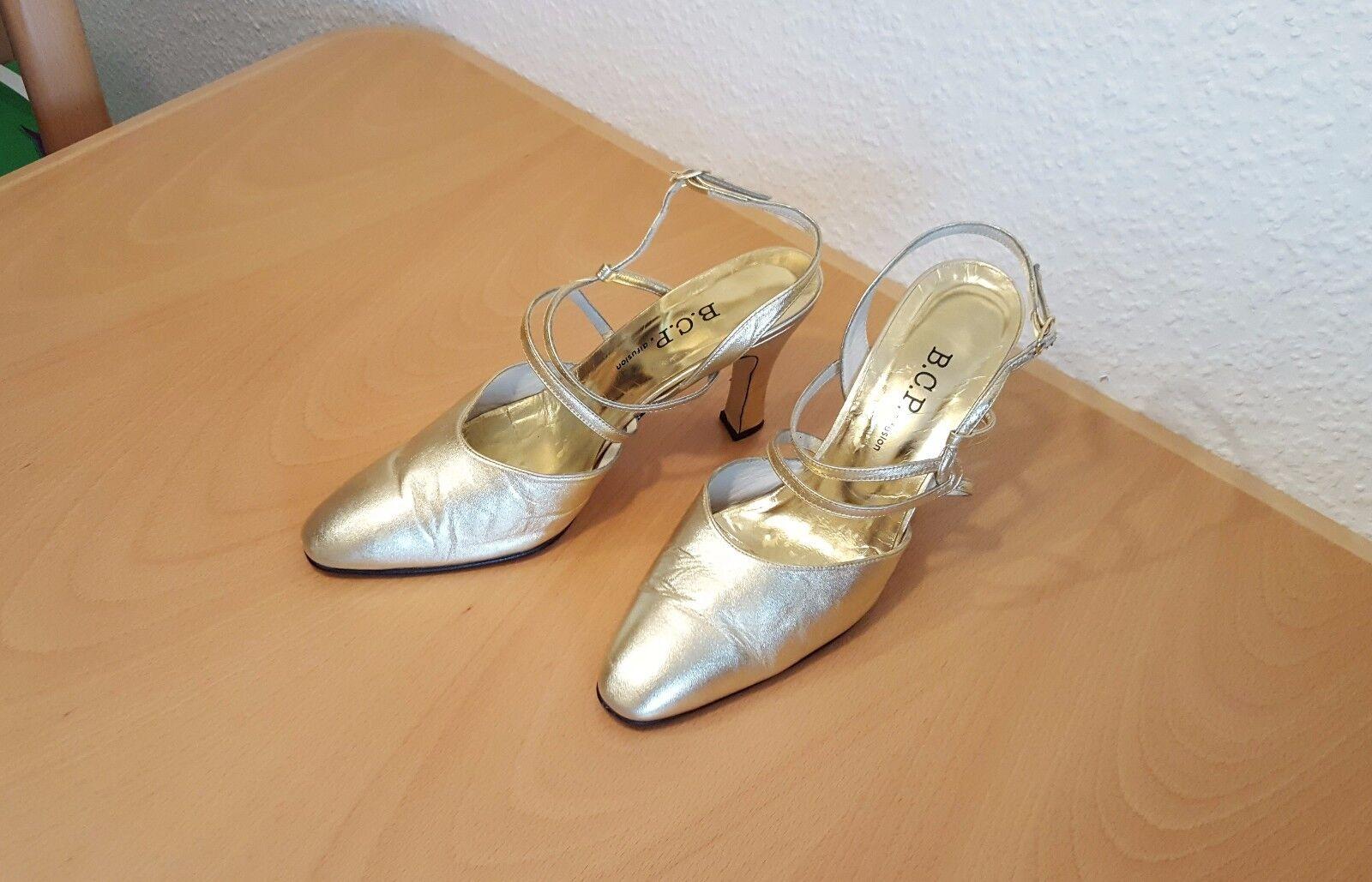 B.C.P. difusion Tanzschuhe High Heels Pumps Damenschuhe Tanzschuhe difusion Gr. 40 - 9cm Absätze gol 26149a