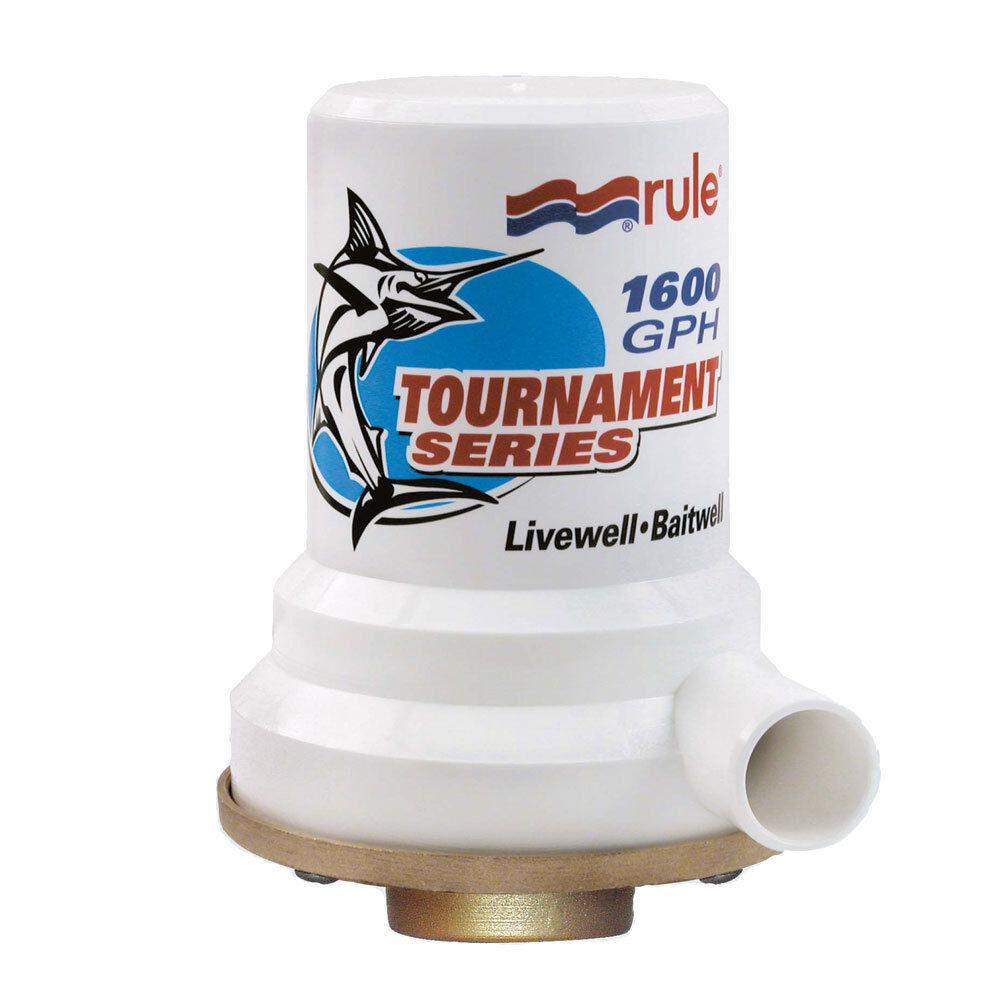 Rule Tournament Series Bronze Base 1600 GPH Livewell Pump model 209B