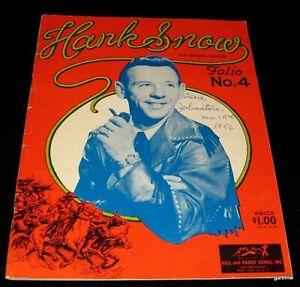 Hank-Snow-1956-musica-country-Folio-N-4-letras-de-canciones-y-fotos-cantando-Ranger