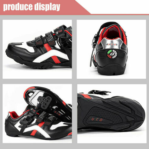 Details about  /BUCKLOS MTB Road Bike Shoes Cycling Shoes Men Women Buckle Strap Riding Shoes