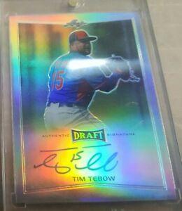 Rare 2016 Leaf Draft Tim Tebow Autographed Auto Rookie Rc Card Mets