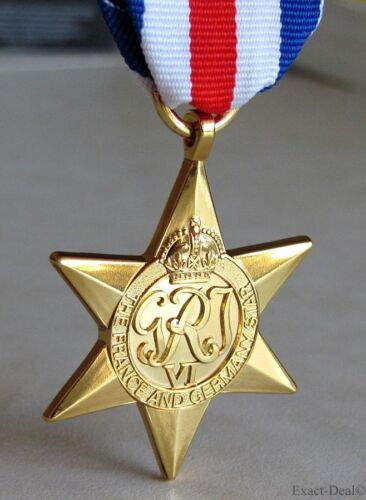 British /& Commonwealth The France /& Germany Star Military Campaign Medal WWII