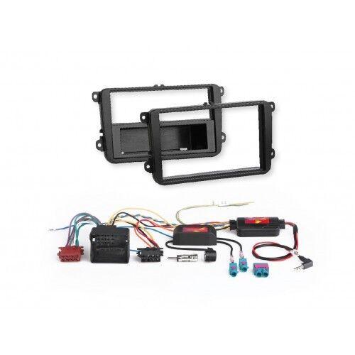 Skoda Fabia II Rapid Roomster autoradio kit de integracion radio diafragma adaptador volante