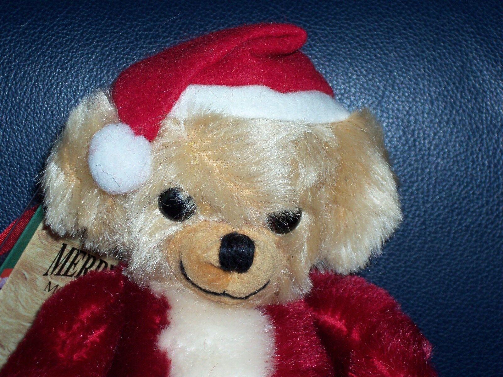 NWT Merrythought Cheeky Little Santa Mohair Teddy Bear Ornament Ltd Ed 97 500