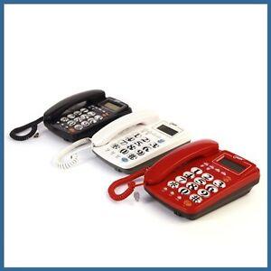 Telefono fisso tasti grandi per anziani design moderno tavolo ufficio casa nuovo ebay - Telefono fisso design ...