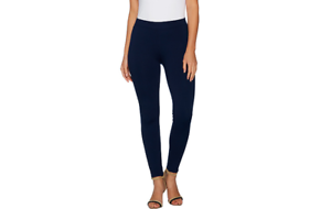 Women with Control Ponte Royale Leggings Contour Waistband Fig L NEW A294351