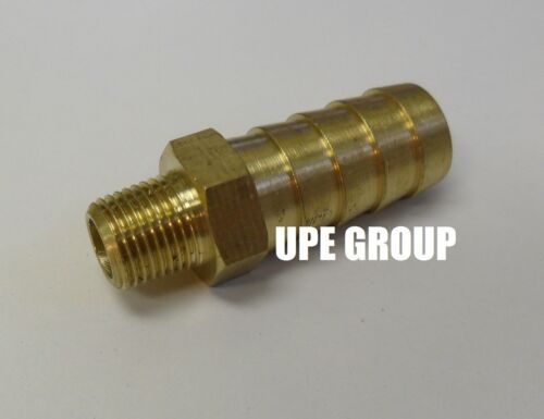 1//2 HOSE BARB X 1//8 MALE NPT Brass Pipe Fitting NPT Gas Fuel Water Air 10 Pack