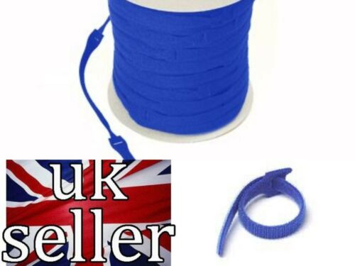 VELCRO Brand ONE-WRAP 10 x 25mm x 300mm Cable Tie BLUE Double Sided Strapping