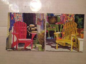 Image Is Loading Linda Baker 2 Giclee Mini Prints Adirondack Chairs