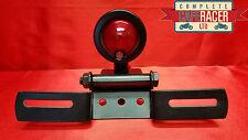 (L20) CAFE RACER MOTORCYCLE DOT BLACK REAR TAIL LIGHT & NUMBER PLATE BRACKET