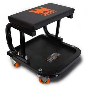 Image Is Loading Rolling Work Seat Garage Mechanics Stool Tool Rolling