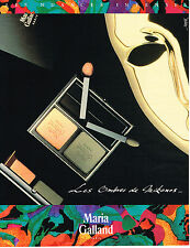 PUBLICITE ADVERTISING 025  1991   MARIA GALLAND cosmétiques 2  par DESPOIX