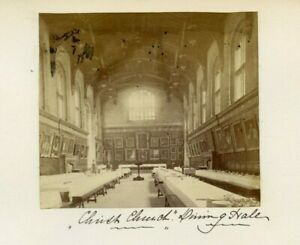 Vintage-Foto-Montato-Su-Album-Pagina-Christ-Chiesa-Sala-Hall-Oxford-Inghilterra