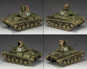 King & Country chute de Berlin RA054 russe soviétique T-70 TANK SET Comme neuf IN BOX