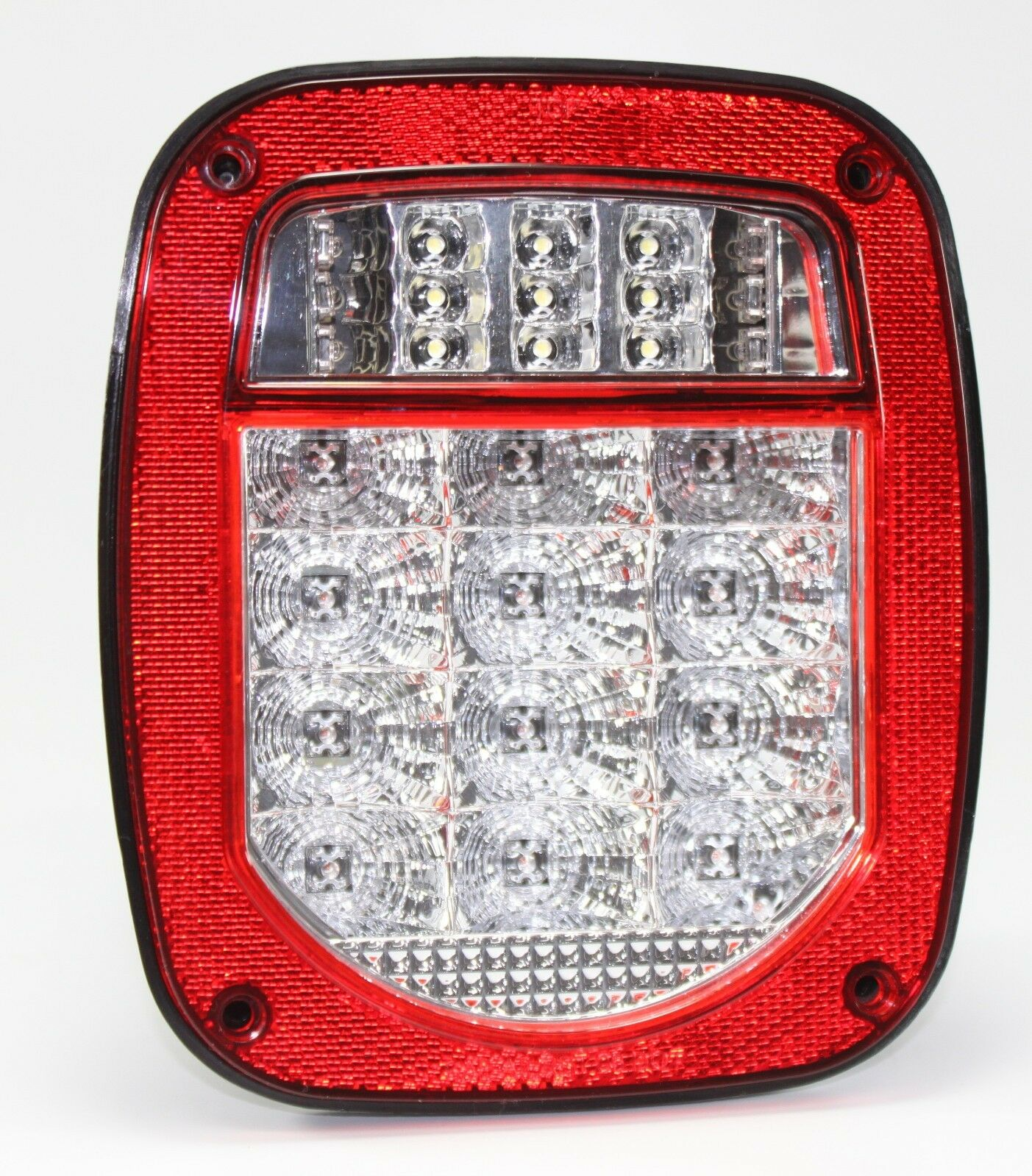 bright red jeep tj cj yj jk replacement tail light without. Black Bedroom Furniture Sets. Home Design Ideas