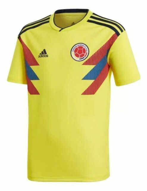 adidas 2018 - 2019 Colombia Home Jersey Soccer Youth L BR3509 ...