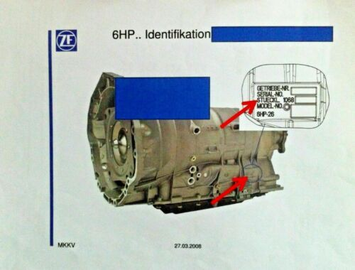 ZF 6HP21,6HP21X,6HP28,6HP28A//6HP28X  Zwischenplatte ZF 1068 227 063 mit 6 Kolben