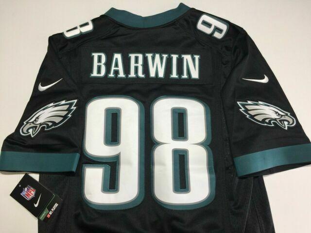 Philadelphia Eagles Connor Barwin Nike Onfield Black Jersey Football Size 54 2xl
