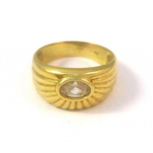 ANELLO DA women IN gold yellow 18 KT CON ZIRCONE