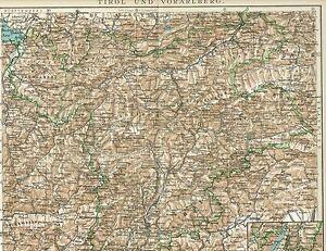Karte Tirol.Details Zu Karte Tirol Und Vorarlberg 1895 Original Graphik