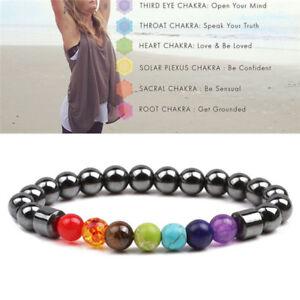 7-Chakra-Heilung-Perlen-Gewicht-Verlust-Armband-Haematit-Stein-Armband-QH