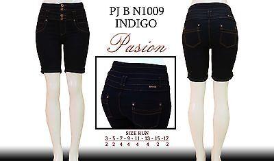 New passion denim N1009 dark blue denim bermuda capri shorts-size 3-17