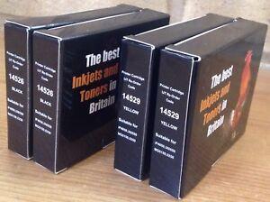 2 X 14526 Noir & 2 X 14529 Jaune Cartouches D'encre; Remplacement Recyclé Impression-afficher Le Titre D'origine Dissipation Rapide De La Chaleur