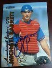 Michael Barrett Signed 1999 Fleer Tradition Expos Rookie Baseball Card RC Auto'd