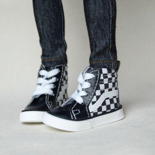 "BJD White Grids Shoes Canvas Sneakers For 1//4 17/"" 44cm BJD doll AOD MSD DOD DK"