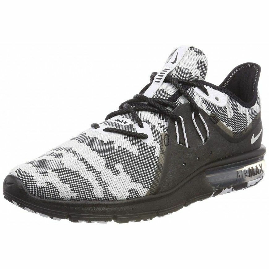 Nike Air Max Sequent 3 PRM Snow Camo (AR0251-001) Men's Size 9