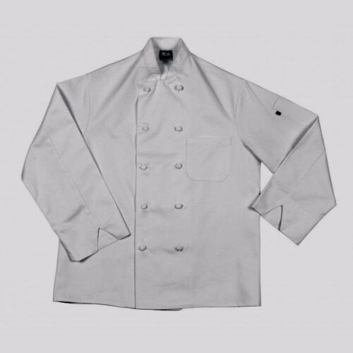 NWT Lot of 6 NEW Pinnacle HD White Chef Jacket//Coat Size 42//M Long Sleeve NEW