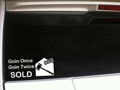 Auctioneer Car Decal Vinyl Sticker 6 A35 Broker Real Estate Auction Gavel Sell 87169274602 Ebay