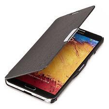 Samsung Galaxy Note 3 N9005 Slim Flip Case Cover Tasche Hülle Schwarz