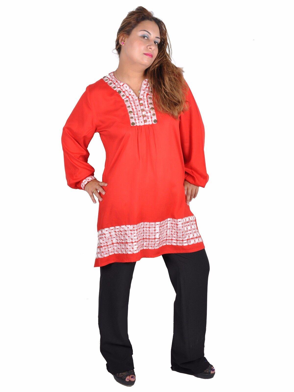 2 Pieces Set - Oriental Ladies Jabador Tunic with Trousers