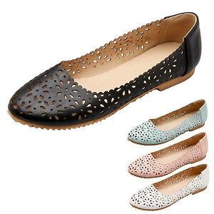 Womens ballet flats lace Ladies Comfy shoes Elegant Ballerinas Plus Size kala