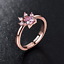 Cat Claw Paw Resizable Rose Gold Plated Zircon Crystal Thumb Ring Adjustable