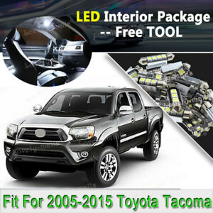 TOOL 9 x Xenon White Interior LED Lights Package For 2005-2015 Toyota Tacoma