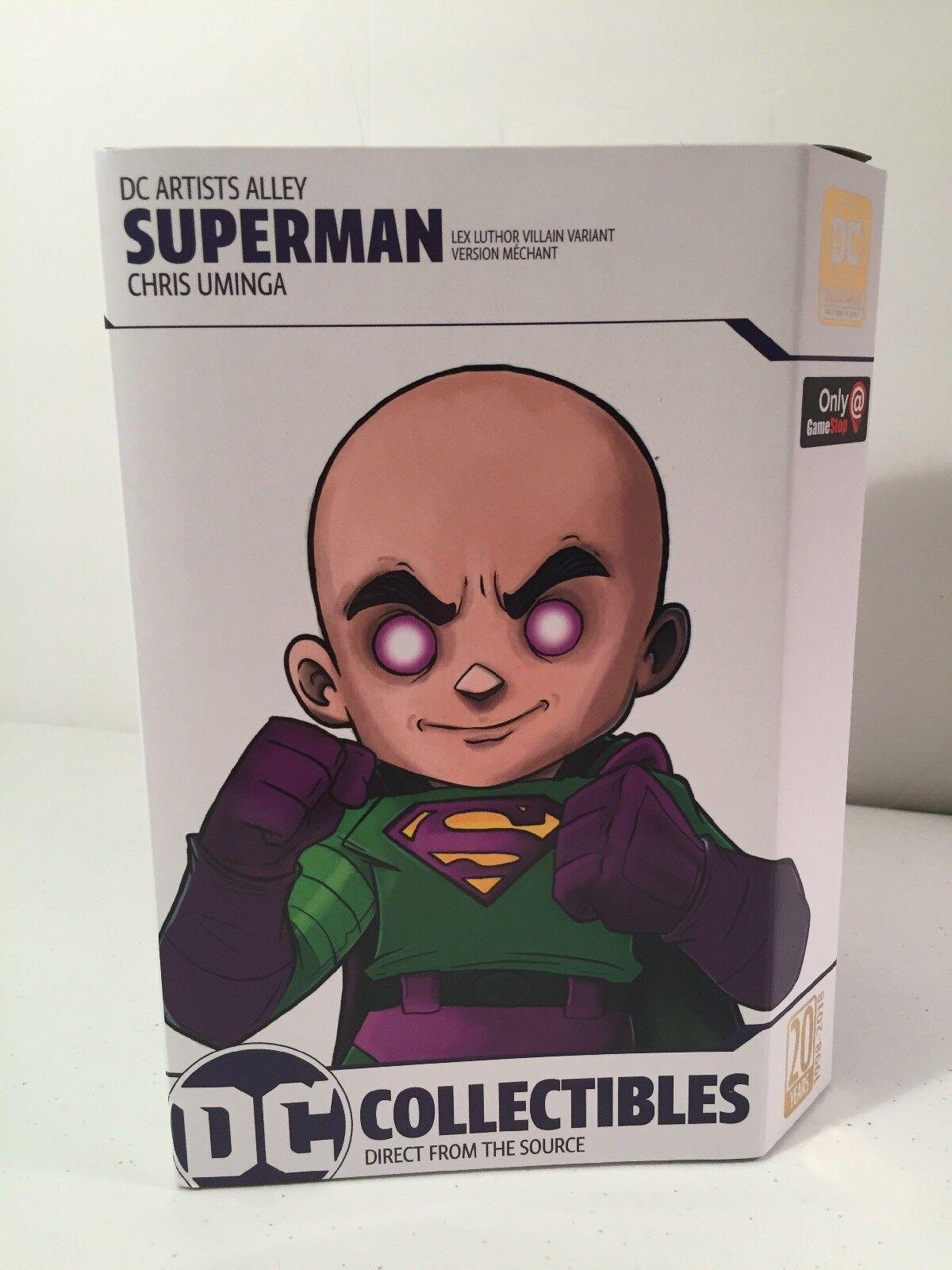 DC Artist Alley Superman 6.6-Inch PVC Collector Collector Collector Statue [Lex Luthor Villain] Rare 09662e