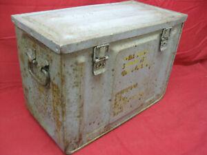 Vintage-WWII-Ammunition-Metal-Box-Large-Working-Latches-Heavy-Duty-Steel-MK3-2