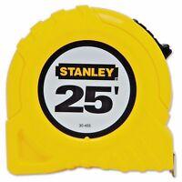"Stanley 30-455 1"" x 25' Yellow Tape Measure Rule Top Lock"